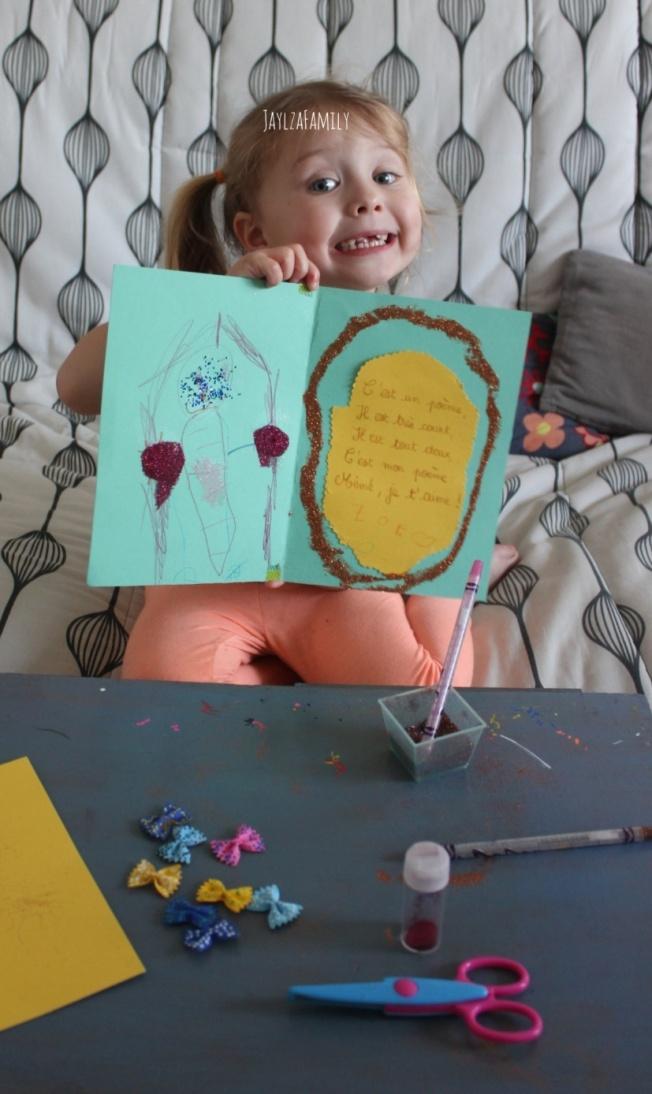 Carte DIY fête des grands-mères pâtes papillon
