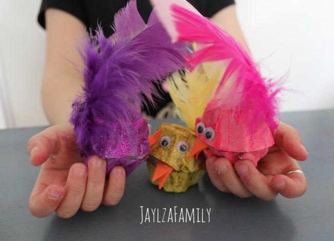 DIY poussins de Pâques piou-pious tout fous