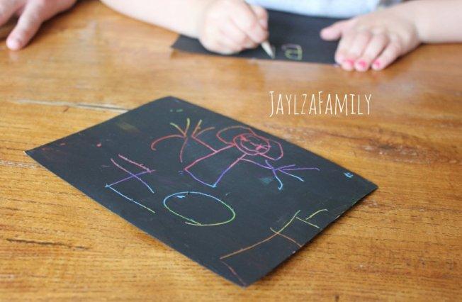 DIY cartes à gratter maison