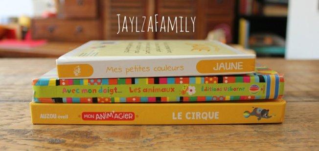 Mon anim'agier Le cirque Auzou éveil ; Avec mon doigt... Les animaux Editions Usborne ; Mes petites couleurs Jaune Tam tam