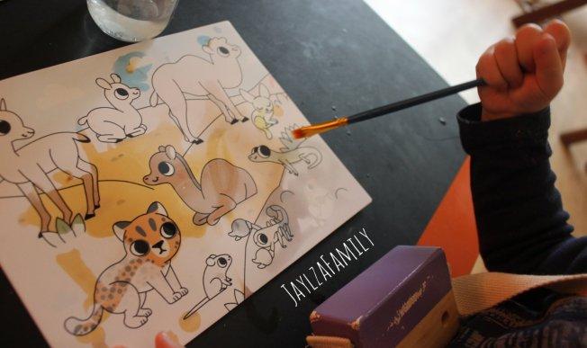 Ma première pochette d'artiste Ma peinture magique Bébés animaux Auzou