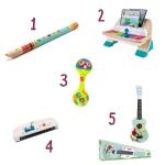 Qu'est-ce qu'on offre aux enfants? Le récap' des idées cadeaux : les instruments demusique.